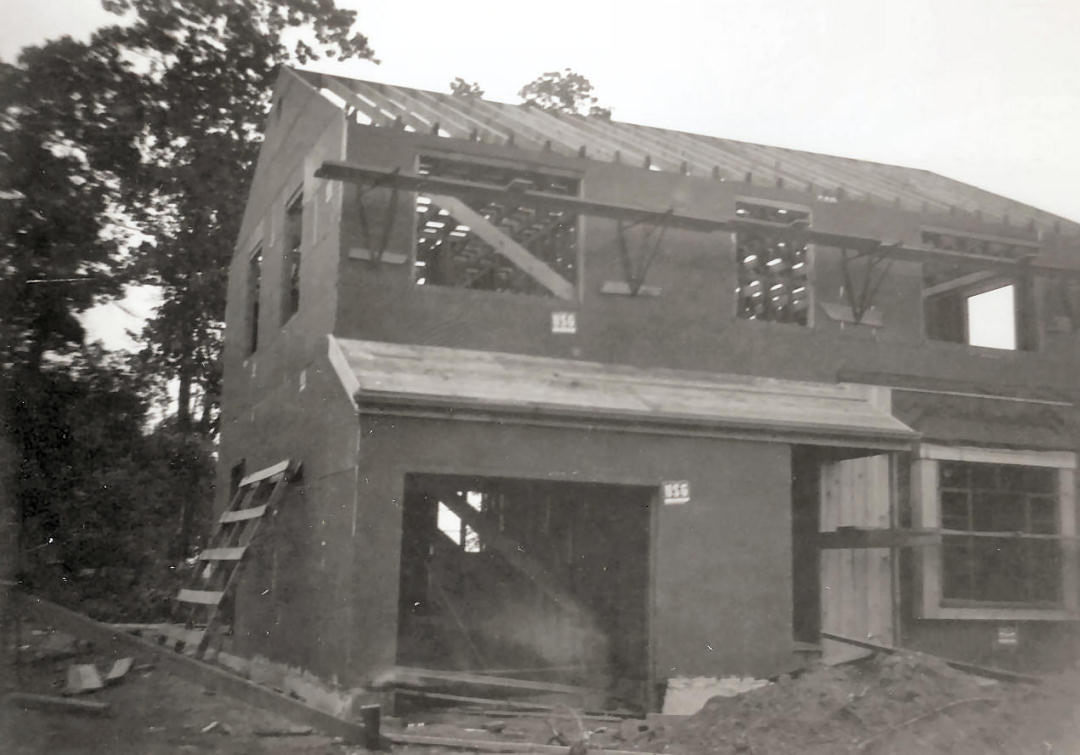 Siding up, 290 Concord Drive, River Edge, New Jersey, 1949
