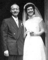 Uncle Ken and Aunt Dea.  Wedding Day. 1950.