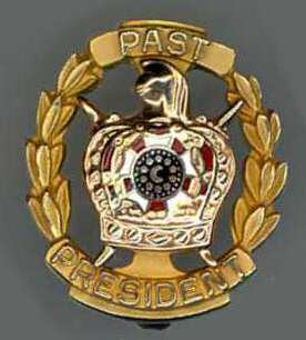 DeMolay pin, Past President, White Rose.